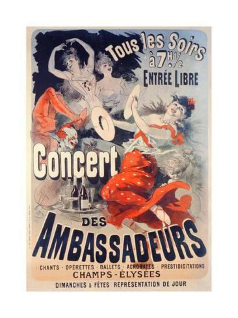 Jules Chéret- Poster Advertising the Concert Des