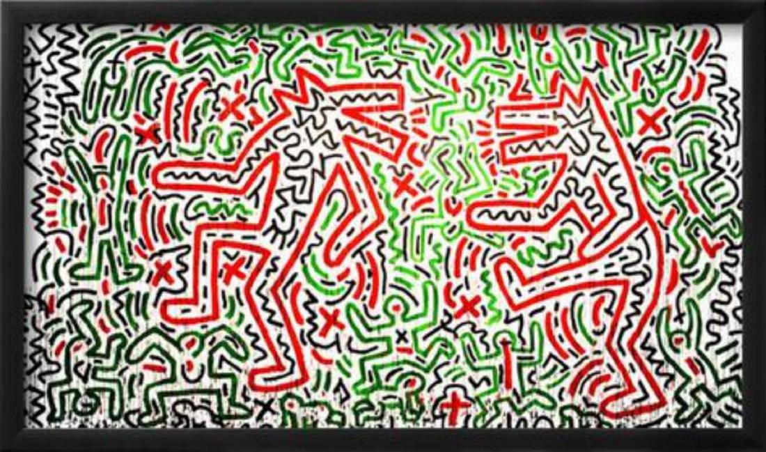 "Keith Haring ""Untitled, 1981"" Custom Framed"