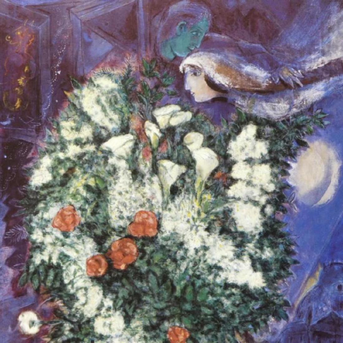 "Marc Chagall (1887-1985) - ""Bouquet with Flying Lover"" - 2"