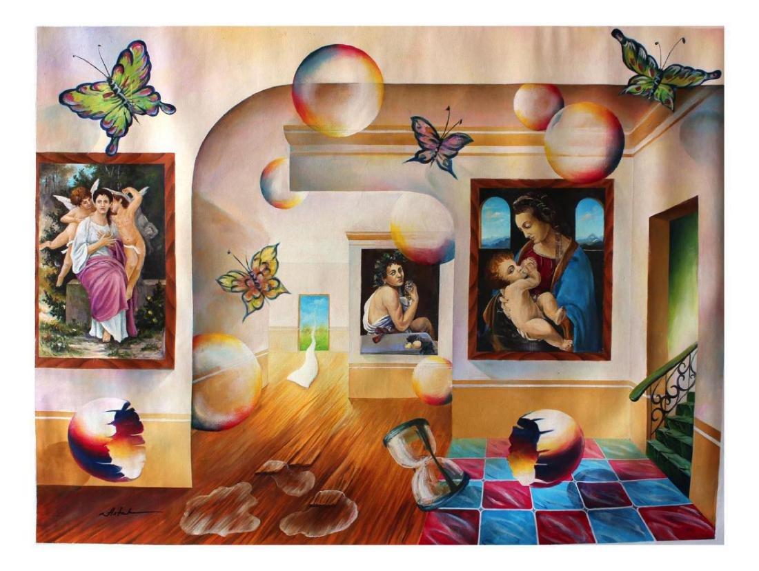 Alexander Astahov Original Oil on Canvas Surreal One of