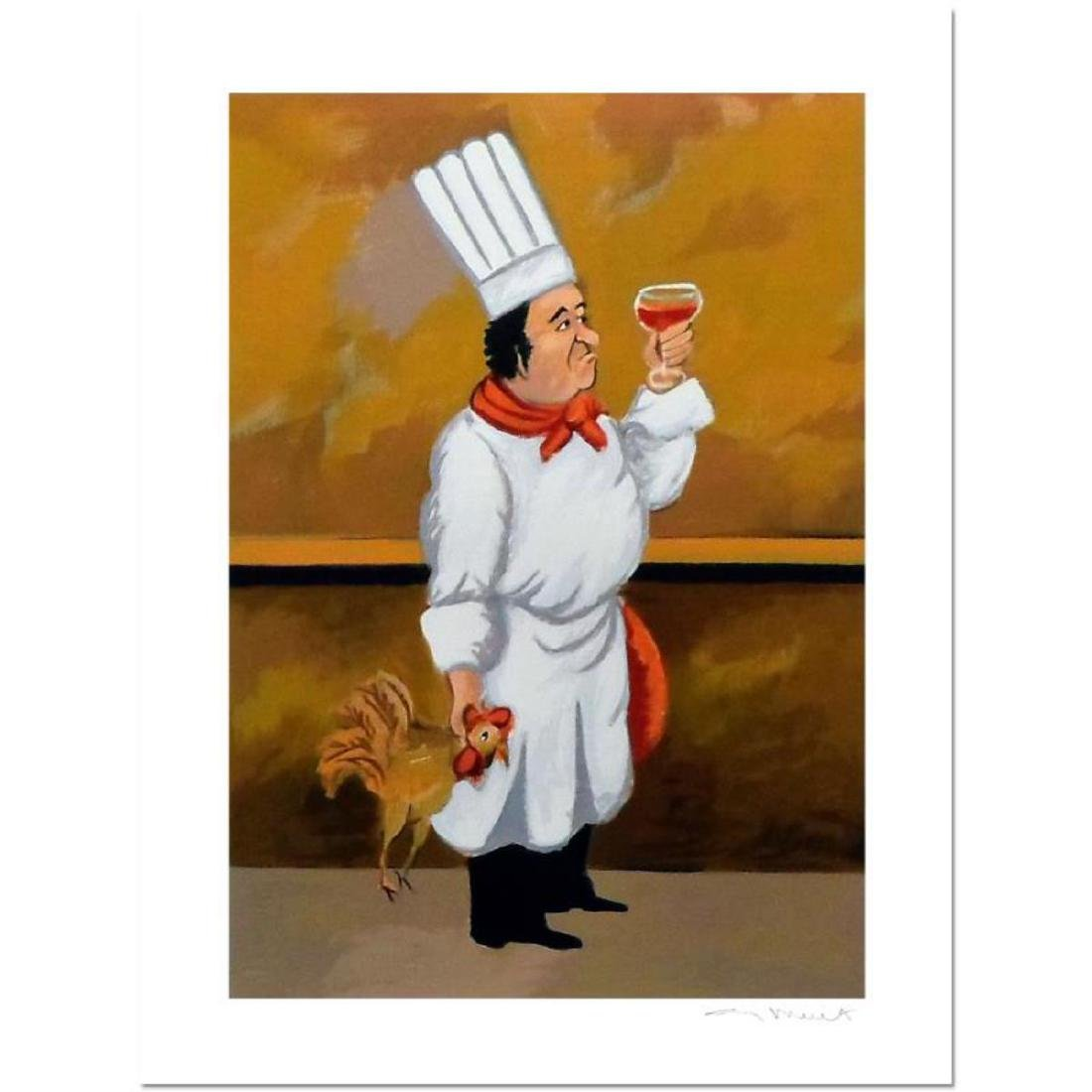 """Guy Buffet - """"Chef Henri"""" Limited Edition Serigraph;"""