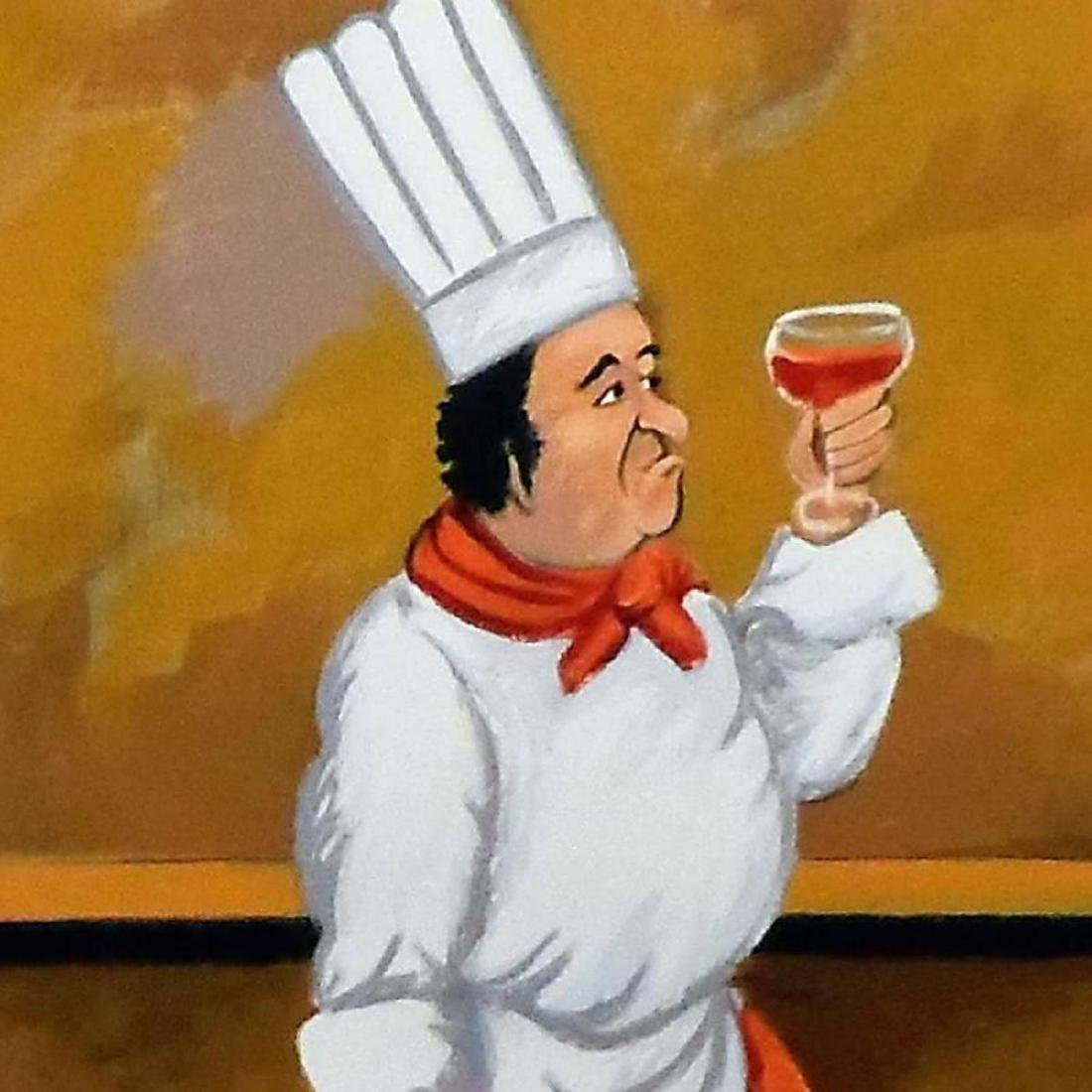 """Guy Buffet - """"Chef Henri"""" Limited Edition Serigraph; - 2"""