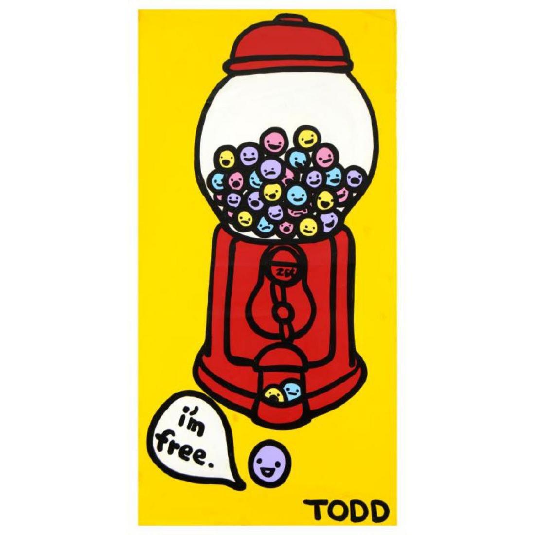 "Todd Goldman - ""I'm Free"" Original Acrylic Painting on"