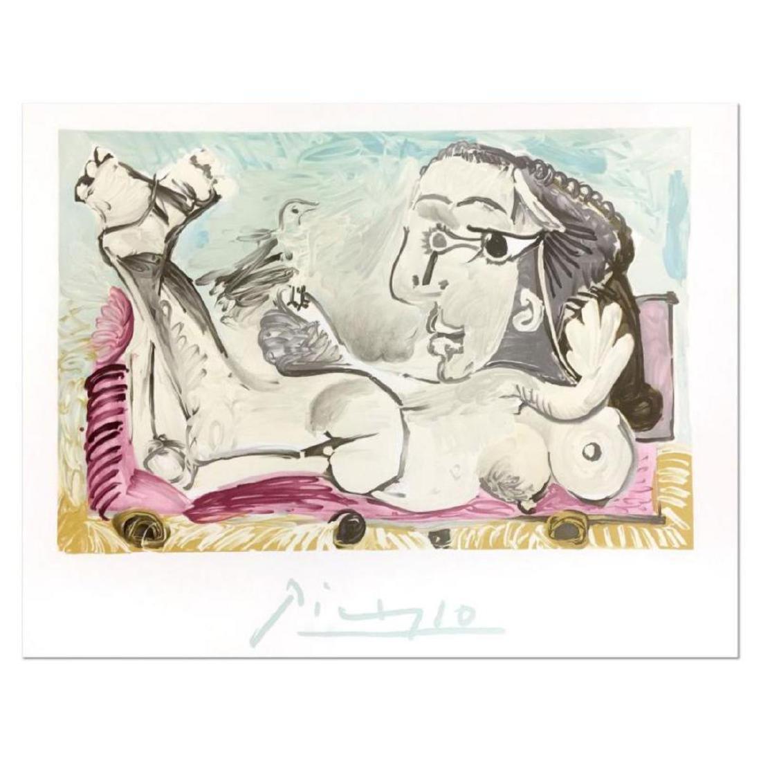 """Pablo Picasso (1881-1973) - """"Nu Couche L'oiseau"""""""
