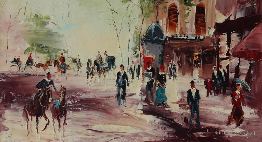 Shalva Phachoshvili Original Oil on Canvas- Dressing