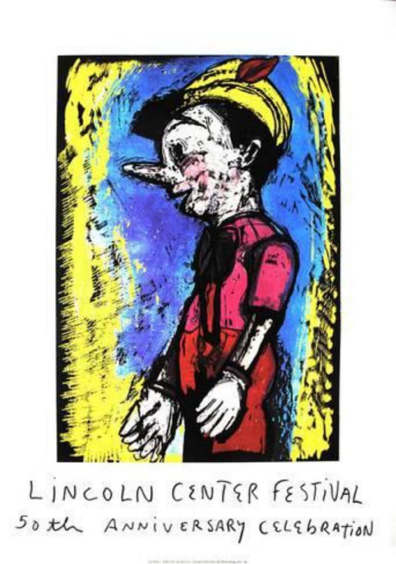 "Jim Dine ""Pinocchio"" Serigraph"