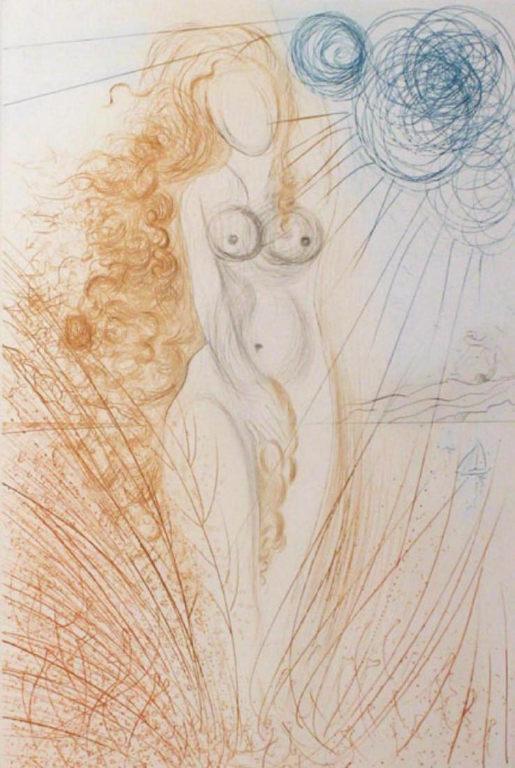 Salvador Dali- Birth of Venus HS/N Framed Original - 2