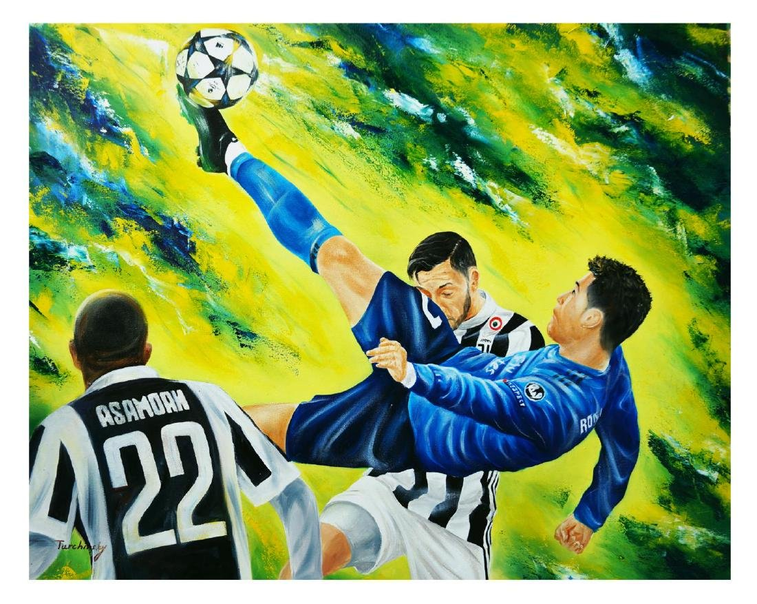 "Turchinsky Dimitry- Original Oil on Canvas ""Ronaldo's"