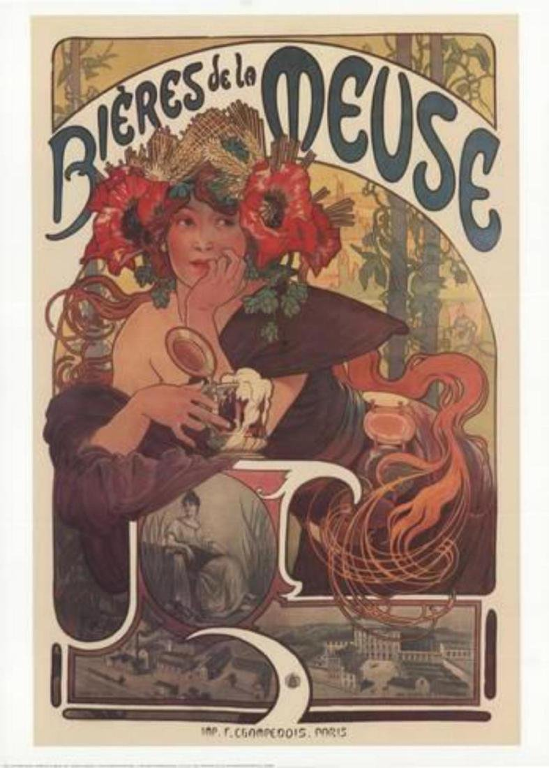 "Alphonse Mucha ""Bieres de la Meuse"""