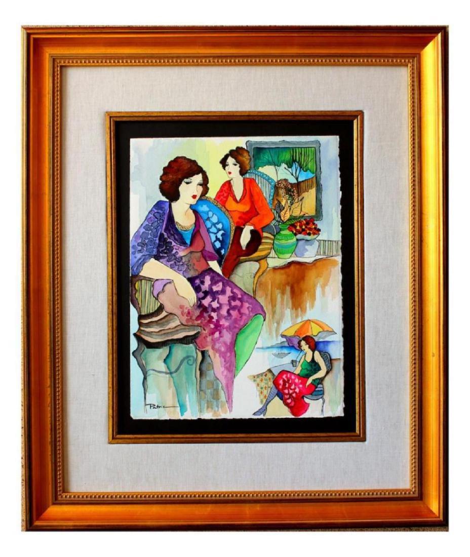 Museum Frame Patricia Govezensky Original Watercolor
