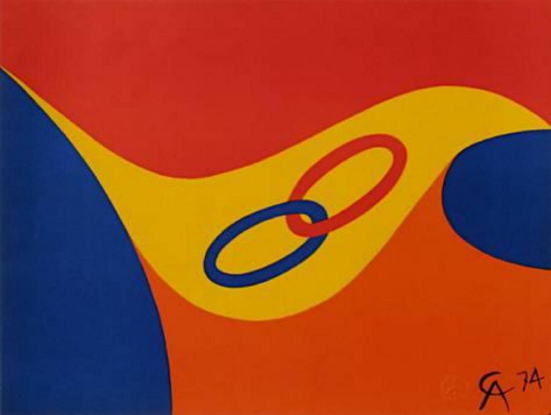 "Alexander Calder ""Flying colors II"" Lithograph"