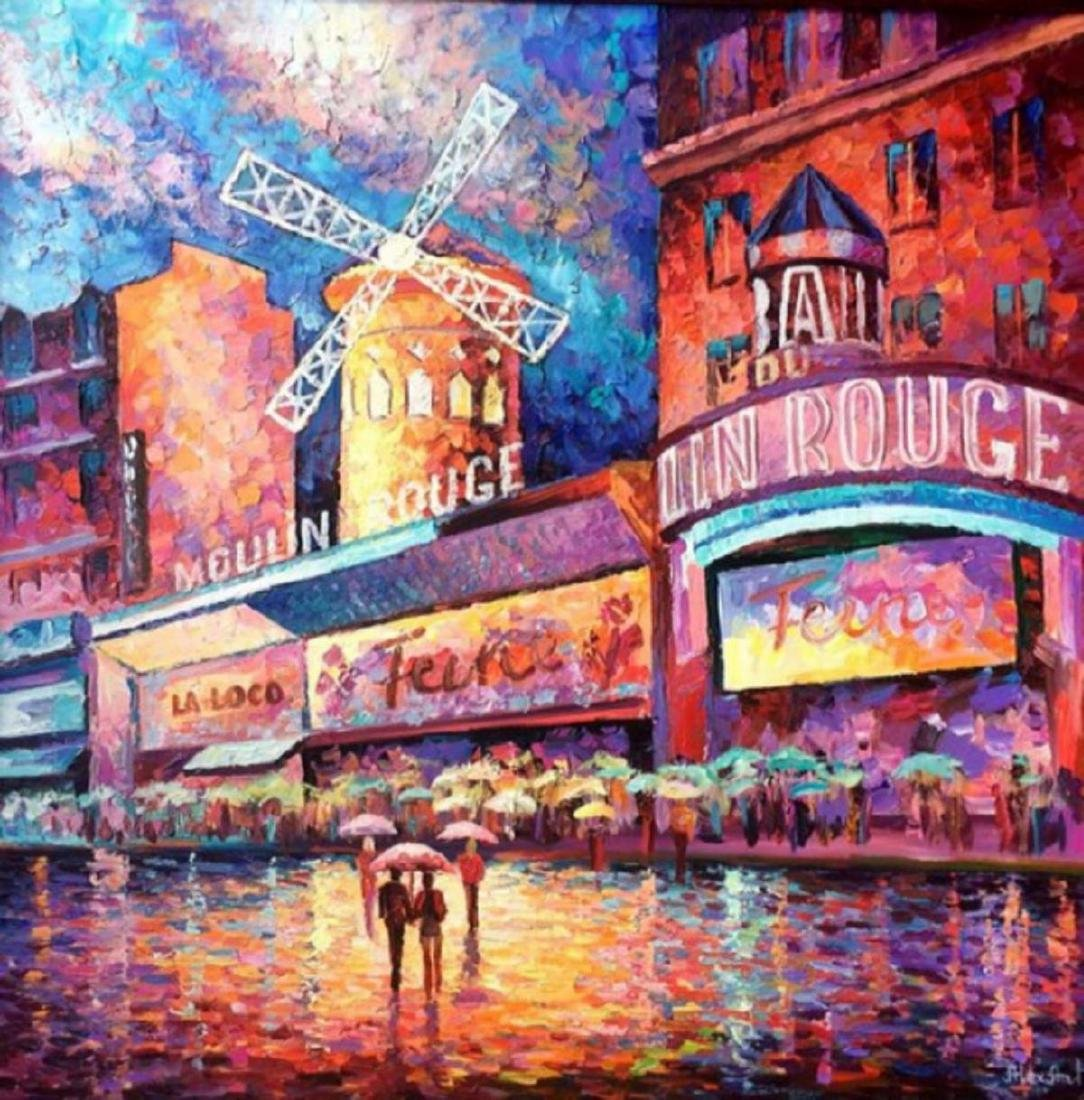 "Alexander Antanenka- ""Moulin Rouge"" Original Acrylic on"