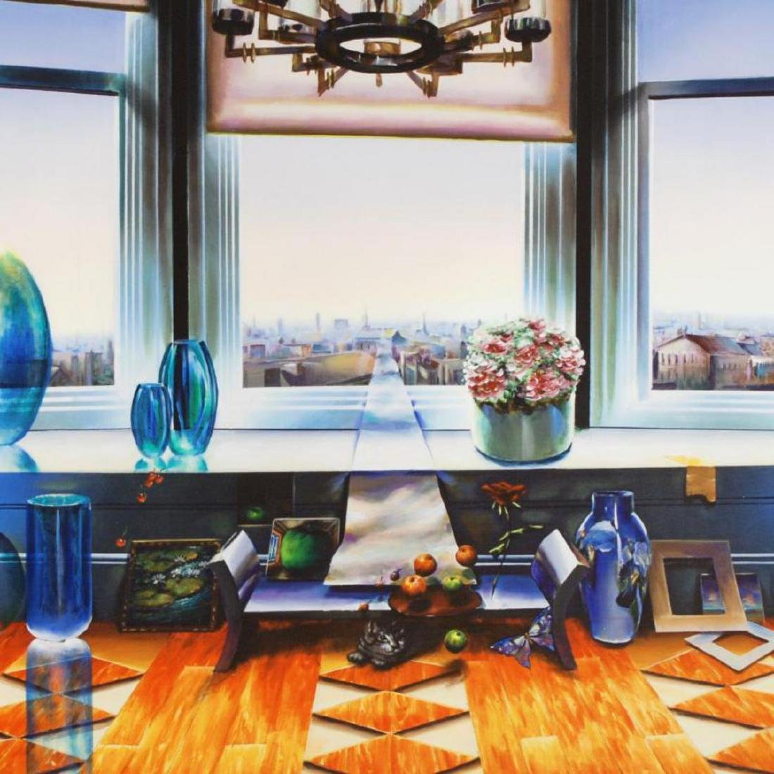 """City View"" Limited Edition Giclee on Canvas (40"" x - 2"