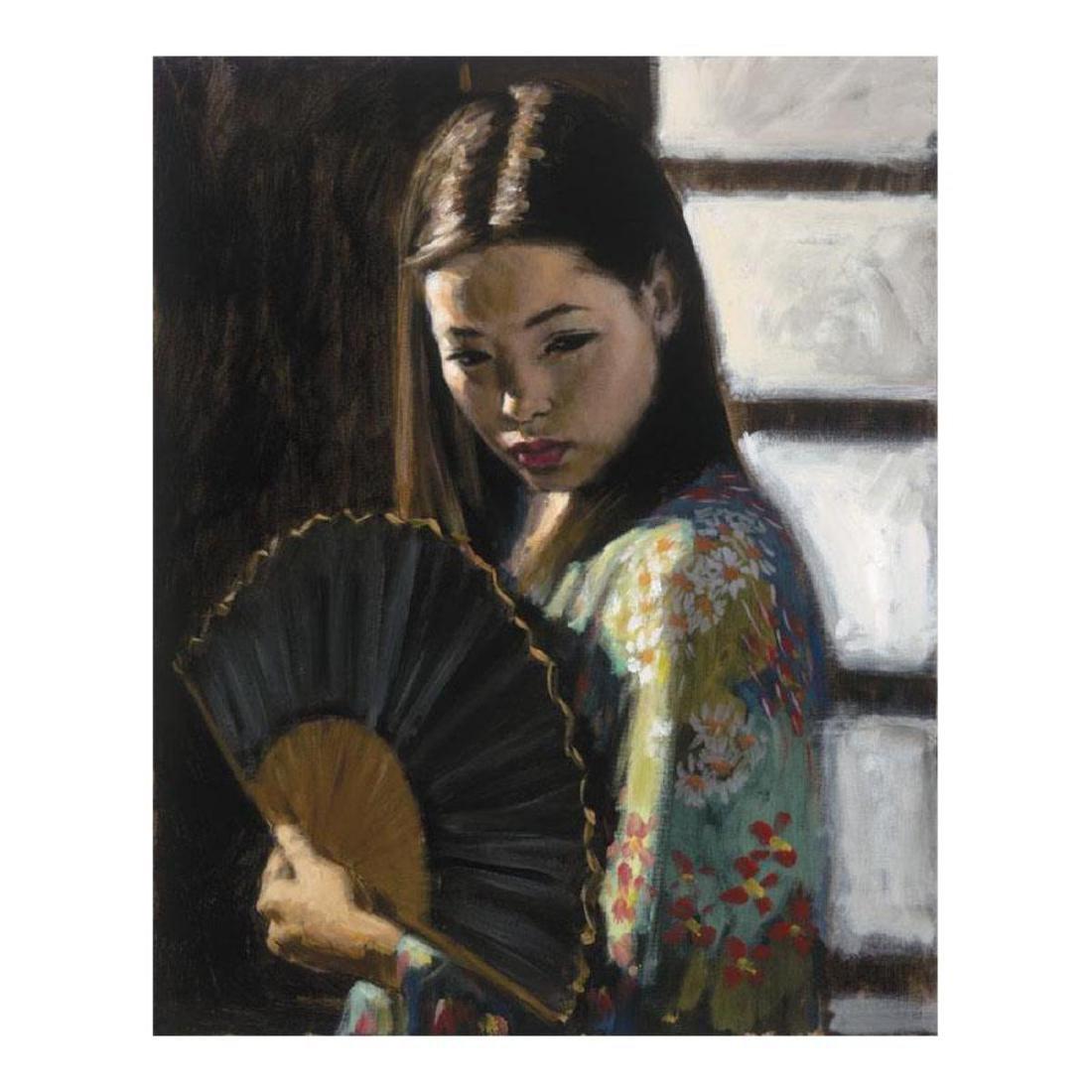 "Fabian Perez ""Study For Japanese Girl"" Hand Embellished"