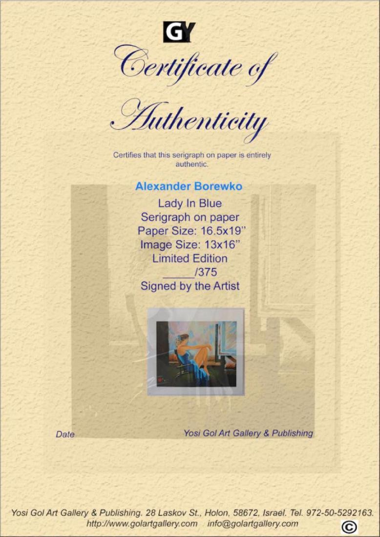 Alexander Borewko Lady In Blue Limited Edition - 4