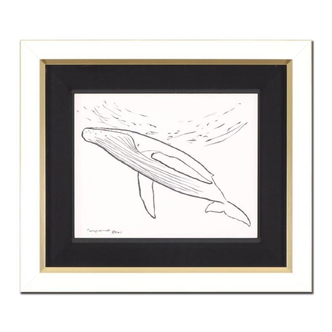 "Wyland - ""Humpback Whale"" Framed Original Sketch, Hand"