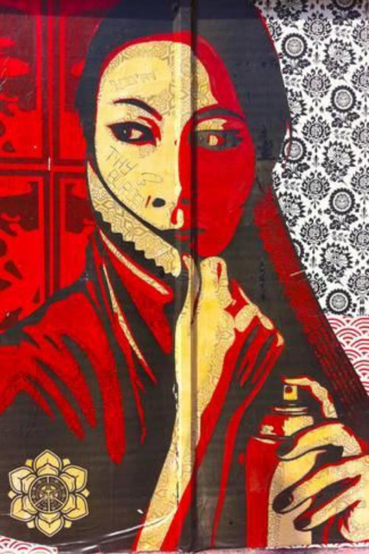 """Shepard Fairey """"Shepherd Fairey Street Graffiti"""