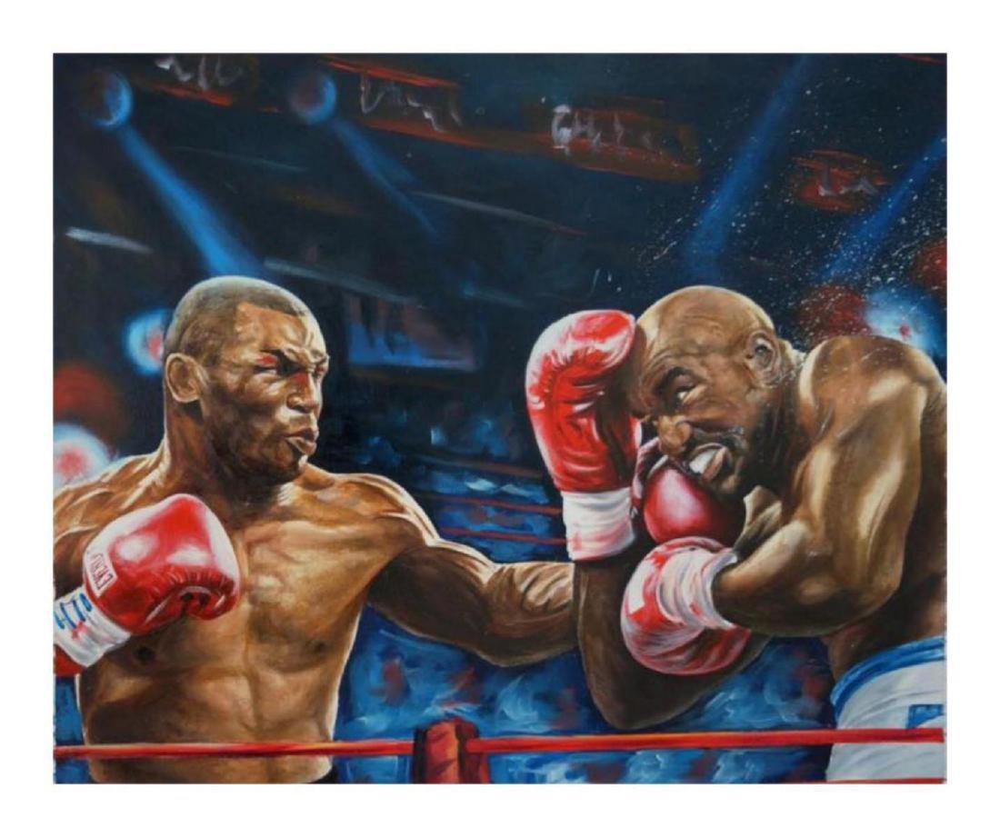 "Turchinsky Dimitry- Original Oil on Canvas ""Iron Mike"
