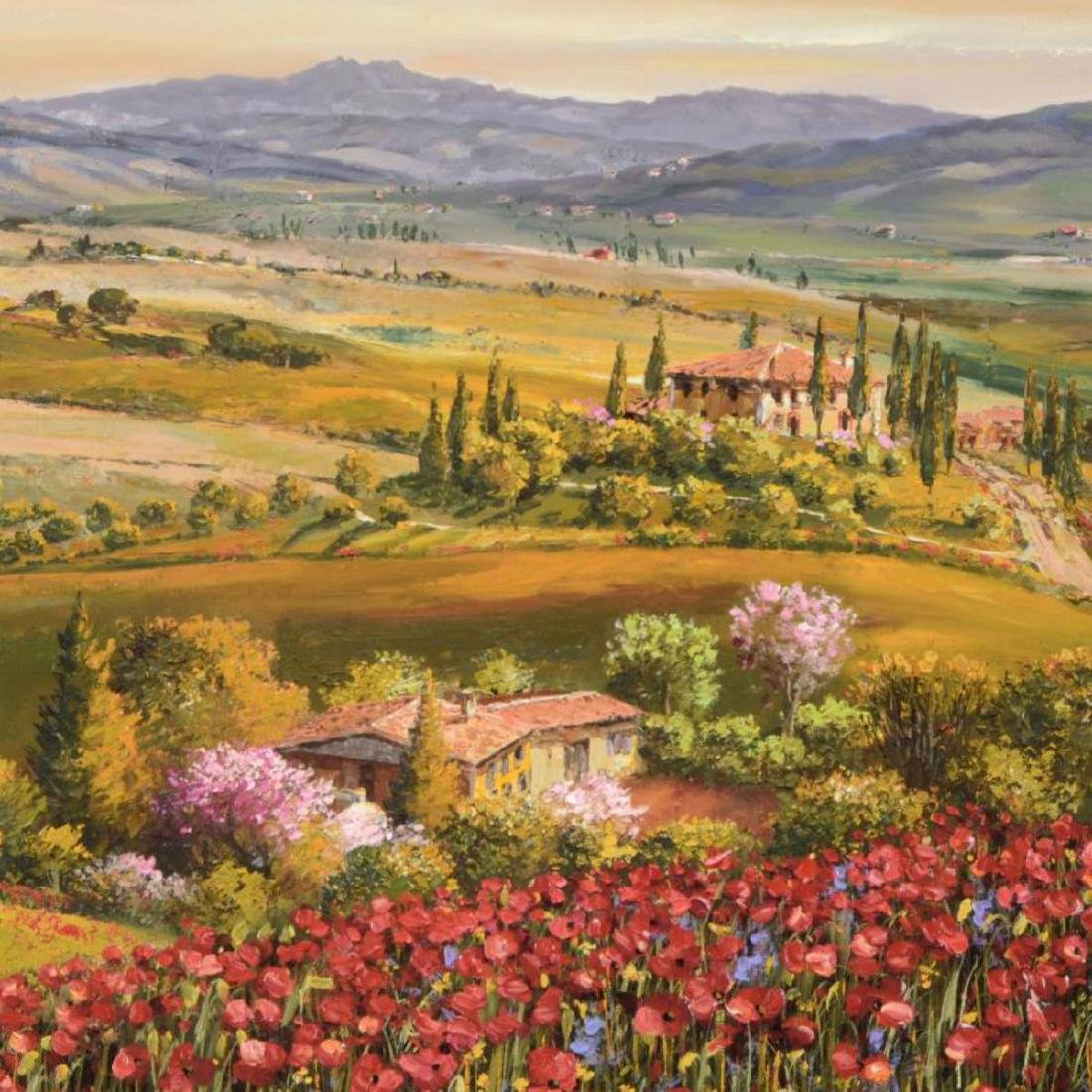 """S. Sam Park - """"Tuscany Red Poppies"""" Hand Embellished - 2"""