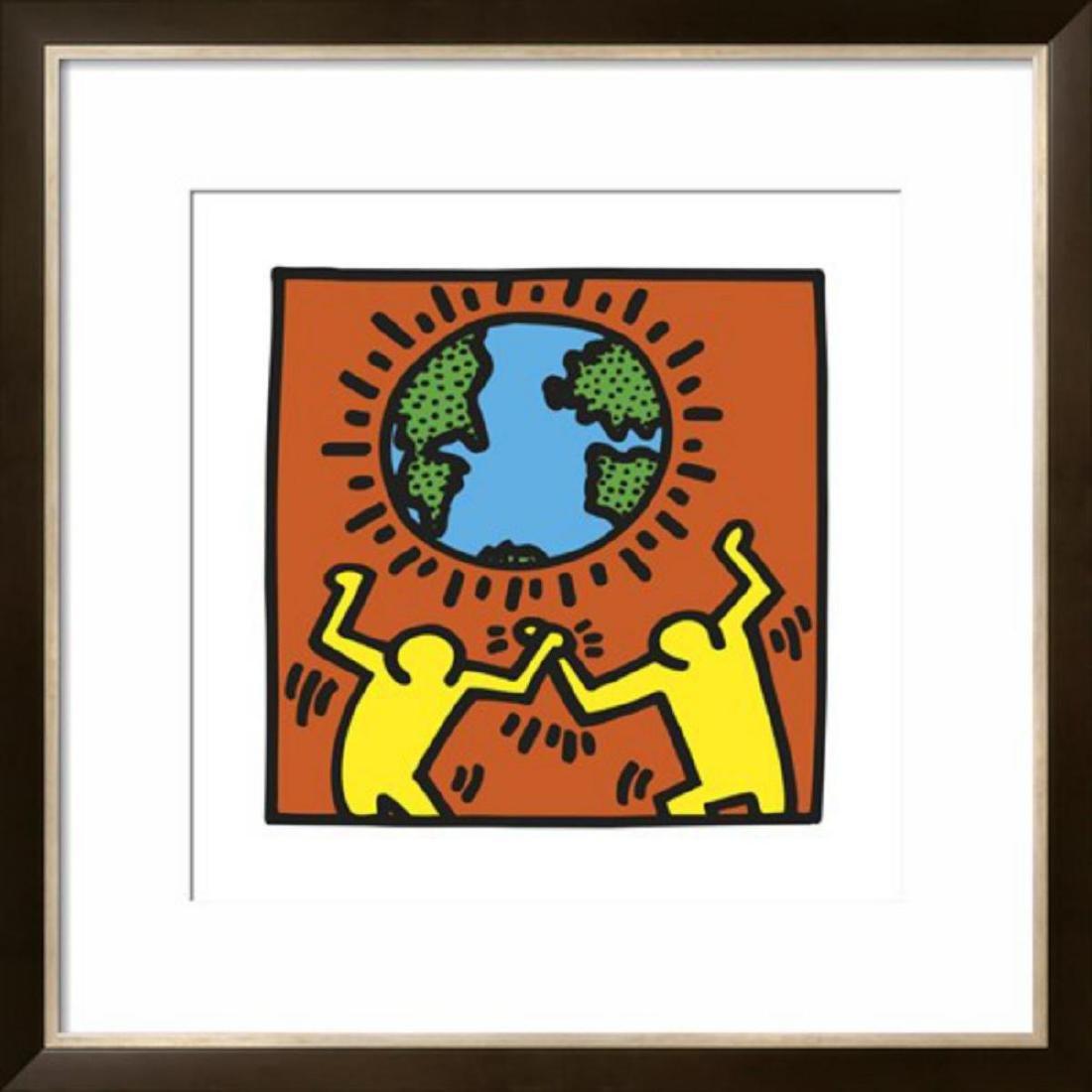 """Keith Haring """"Pop Shop"""" Custom Framed"""