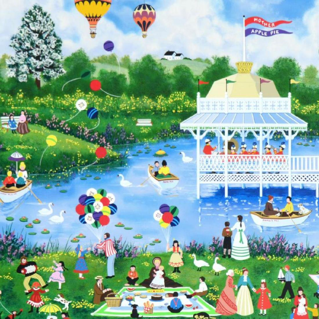 """""""Mother's Day Picnic"""" Limited Edition Serigraph by Jane - 2"""
