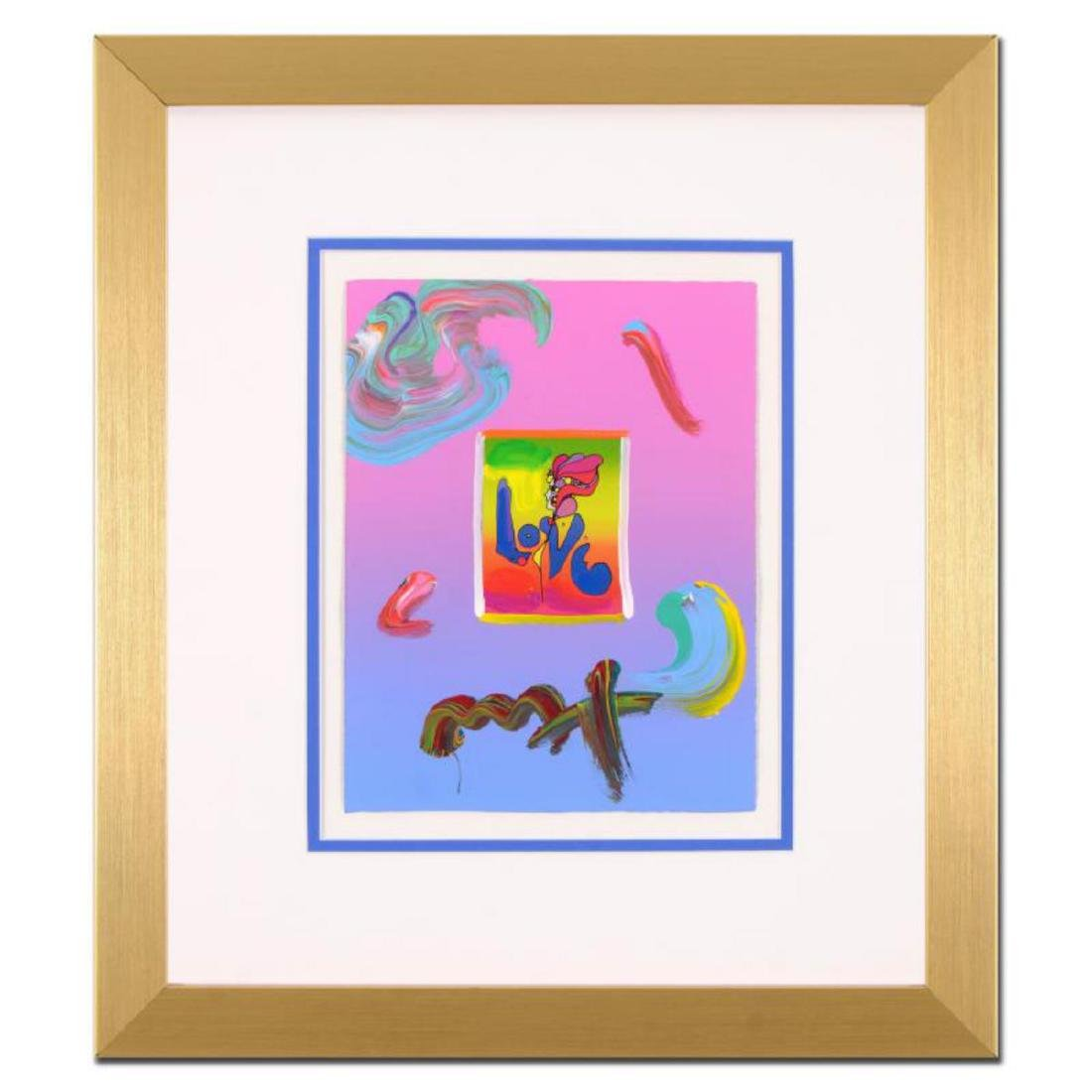 """Peter Max - """"Love"""" Framed One-Of-A-Kind Acrylic Mixed"""