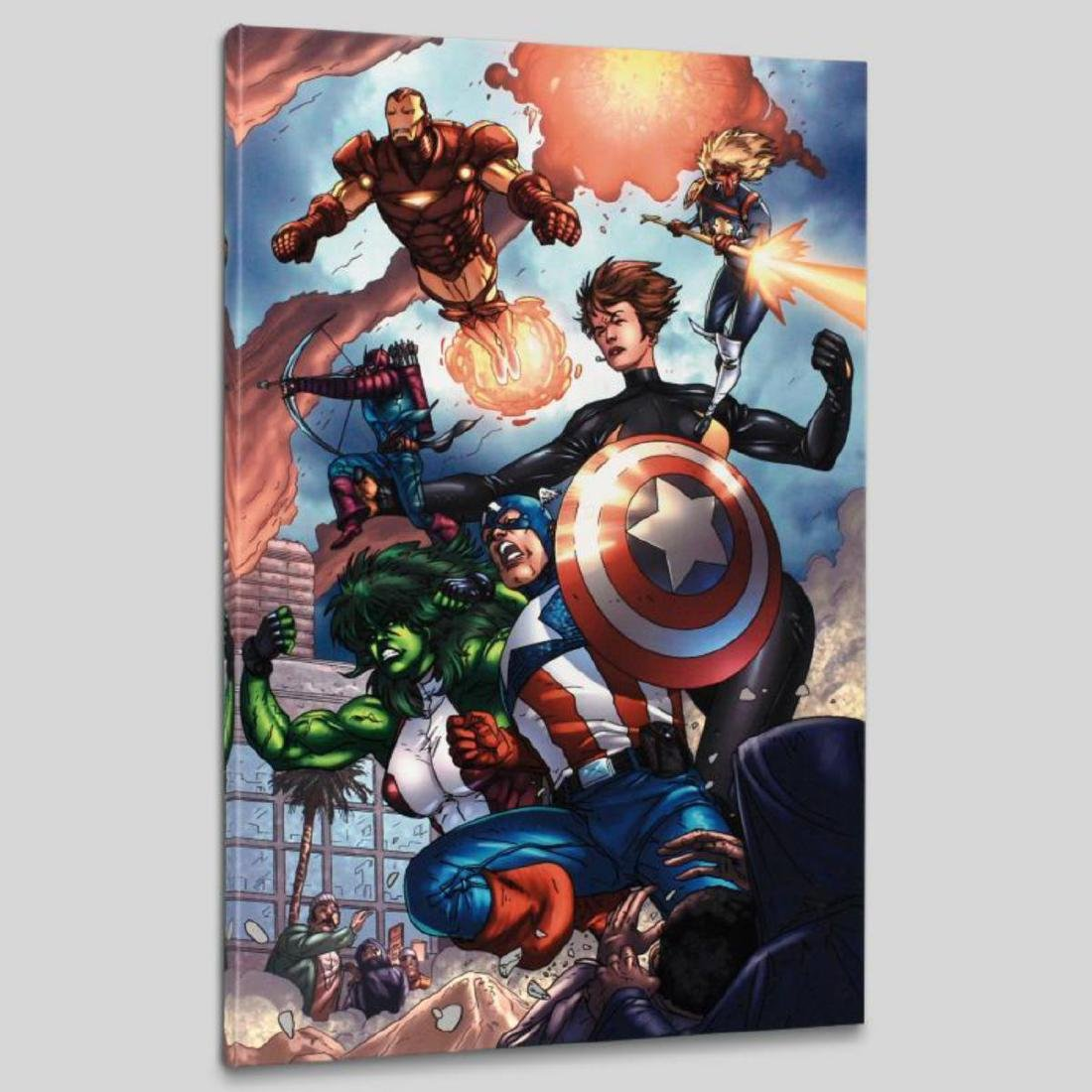 """""""Avengers #84"""" LIMITED EDITION Giclee on Canvas by - 3"""