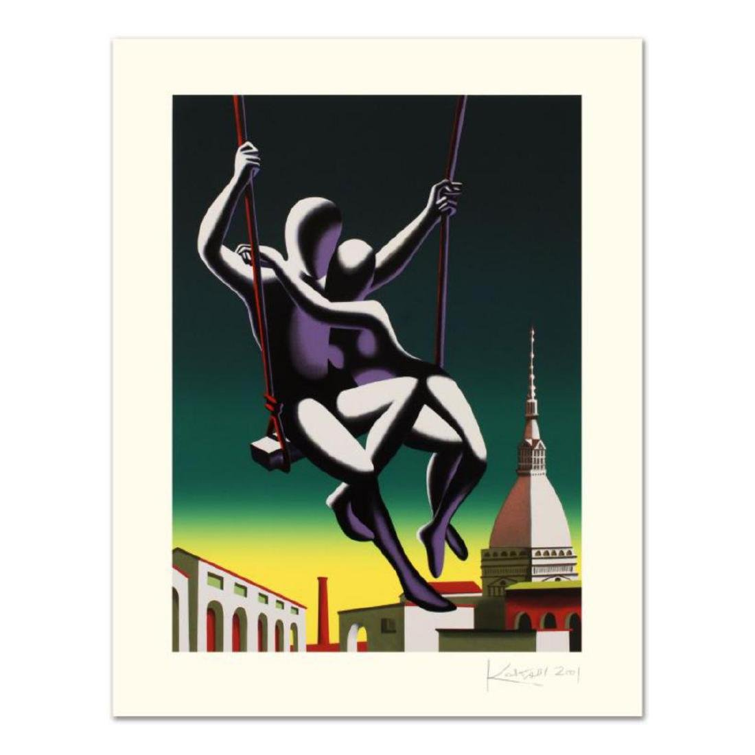 """Mark Kostabi - """"Above The World"""" Limited Edition"""