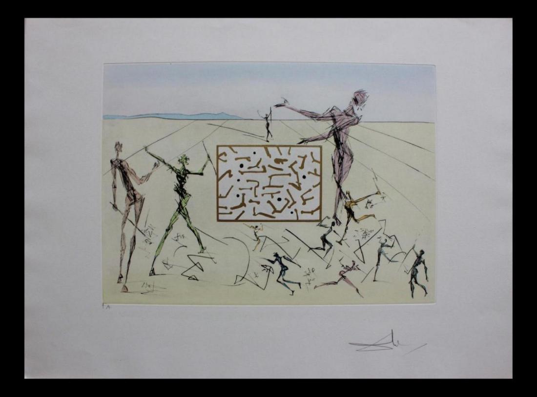 "Salvador Dali Engravings ""L'electronique"" Leonardo da"