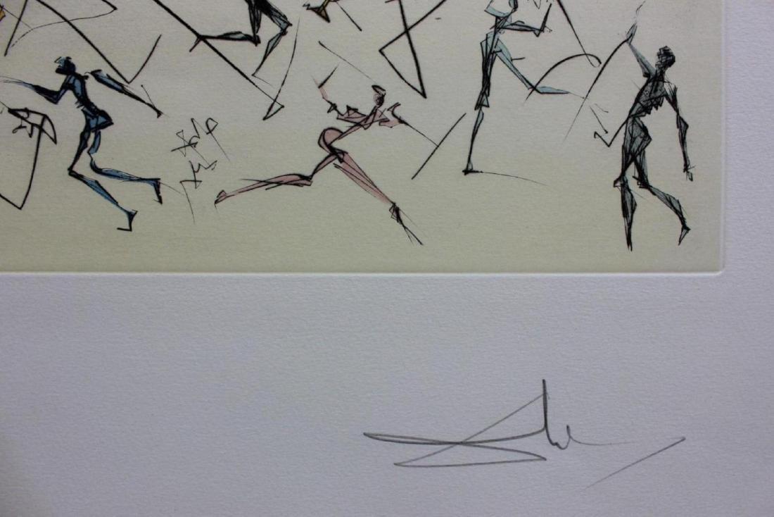 "Salvador Dali Engravings ""L'electronique"" Leonardo da - 2"