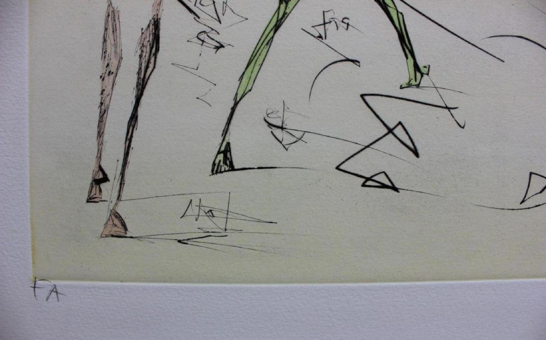 "Salvador Dali Engravings ""L'electronique"" Leonardo da - 3"