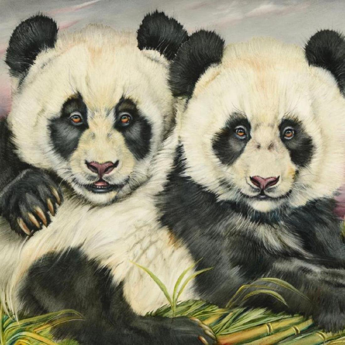 "Martin Katon - ""Loving Panda Cubs"" Original Oil - 2"