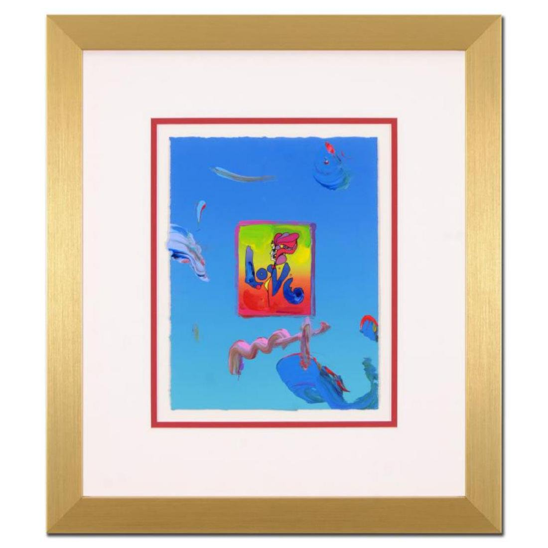 "Peter Max - ""Love"" Framed One-Of-A-Kind Acrylic Mixed"