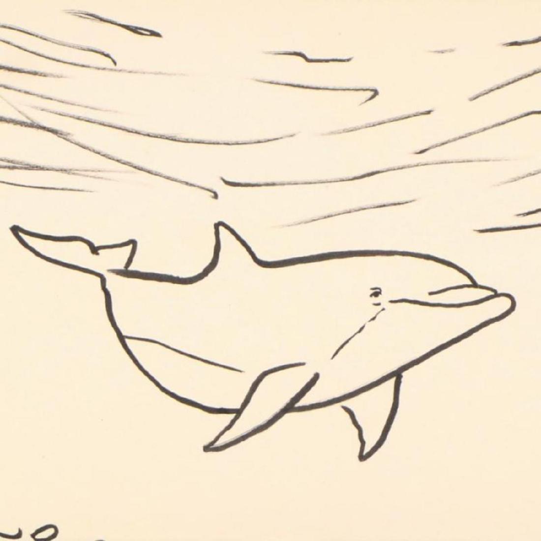"""Wyland - """"Dolphin"""" Framed Original Sketch, Hand Signed - 2"""
