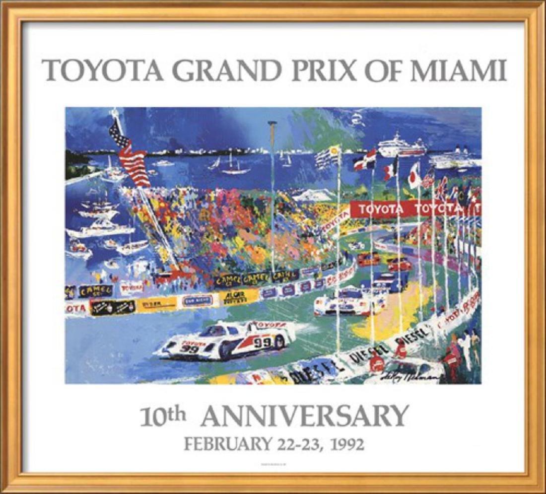 "LeRoy Neiman ""Toyota Grand Prix of Miami"" Custom Framed"