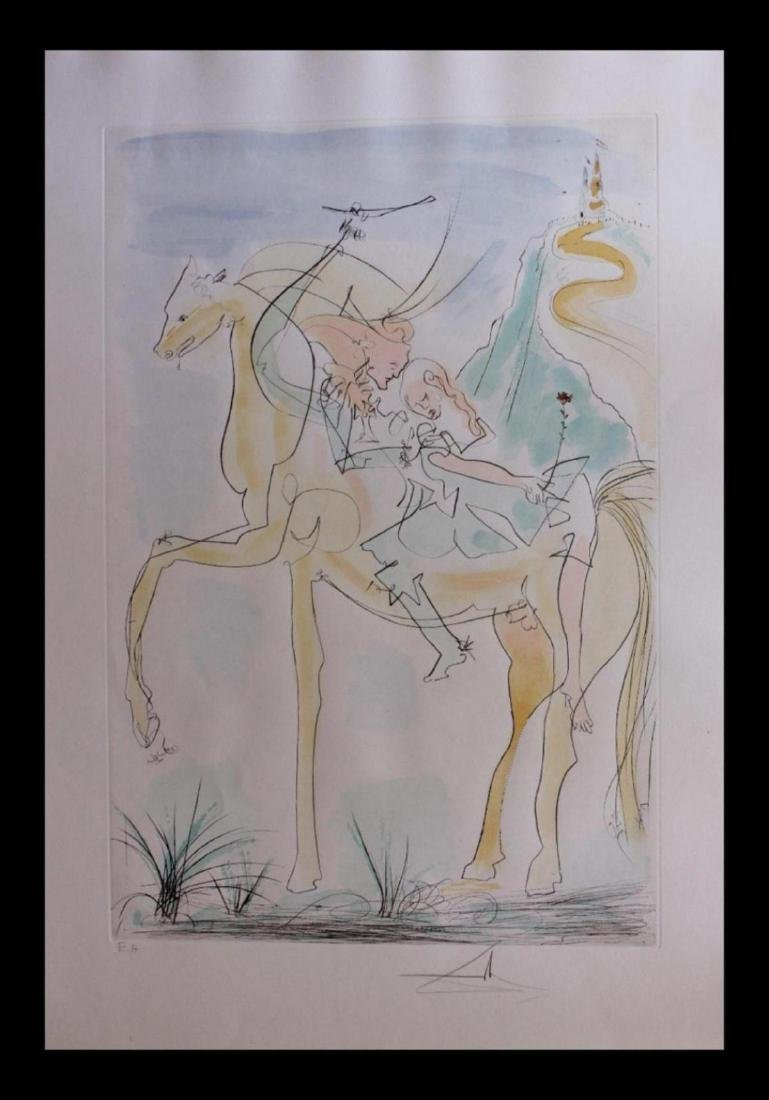 """Salvador Dali """"Adam and Eve"""" 71-8 (K) Original"""
