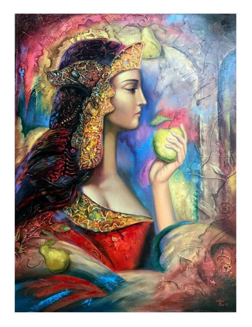 "Taras Sidan- Original Oil on Canvas ""Afrodita"""