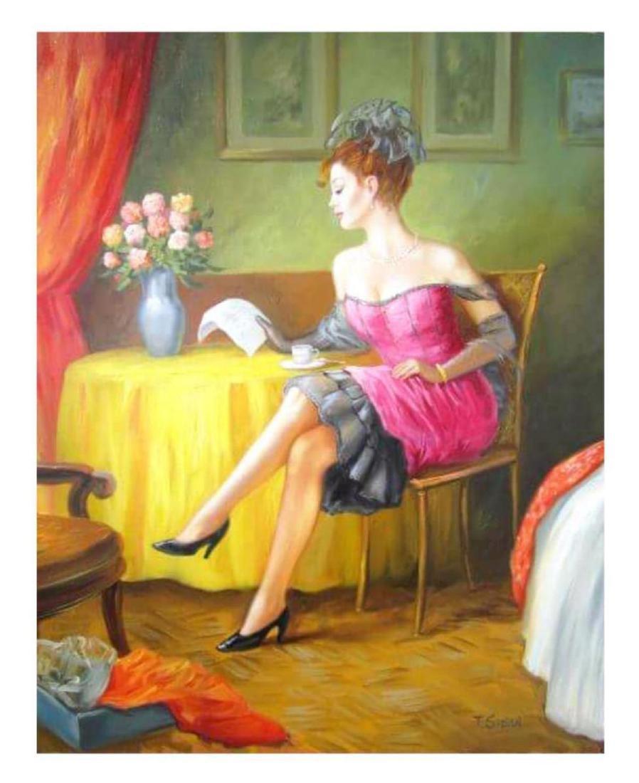 "Taras Sidan- Original Oil on Canvas ""Love Letter"""