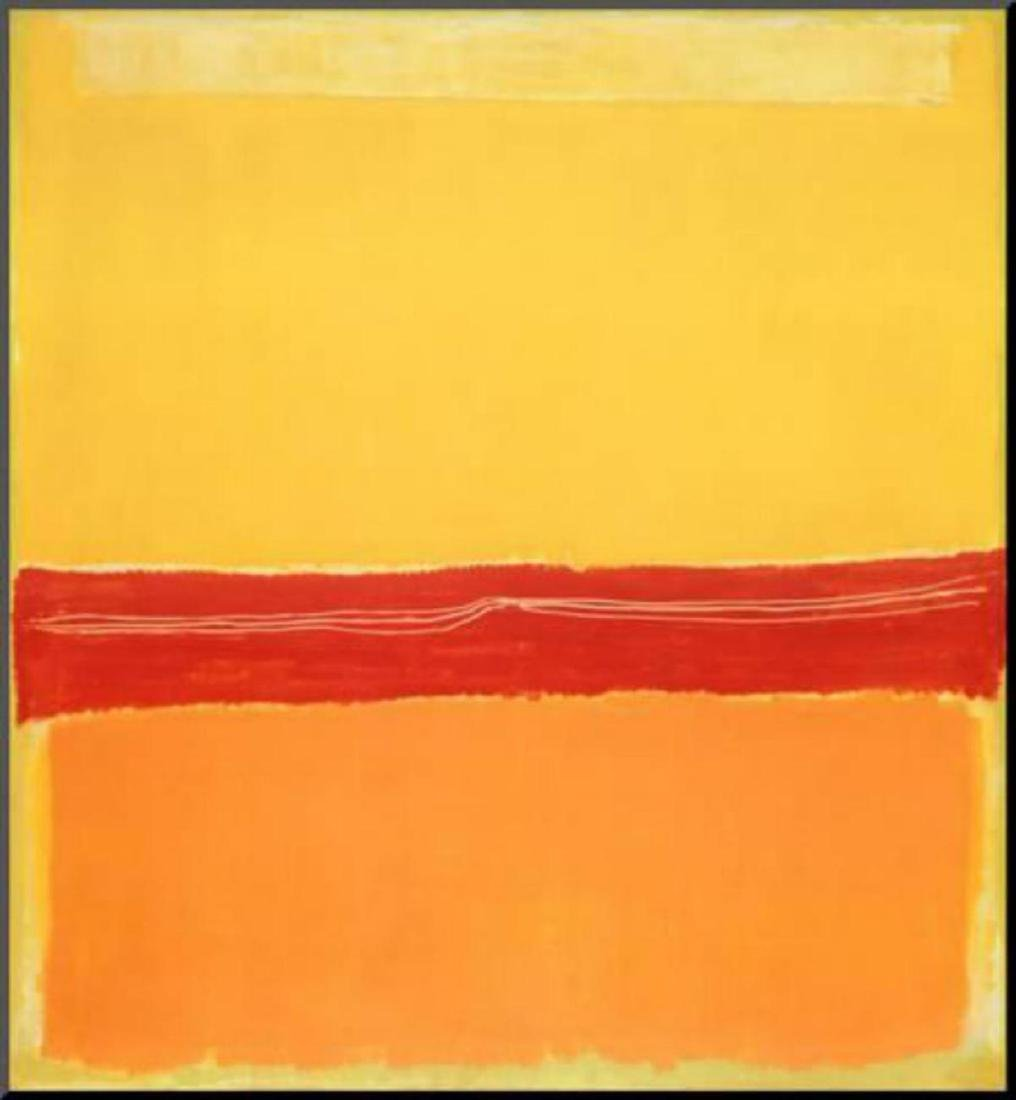 "Mark Rothko ""Number 5 "" Mounted Offset Lithograph"