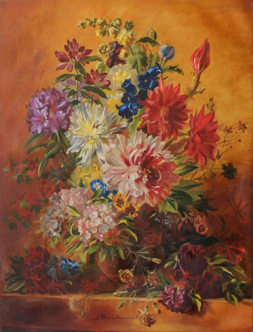 Alexander Borewko Orig. Oil on Canvas Bouquet of