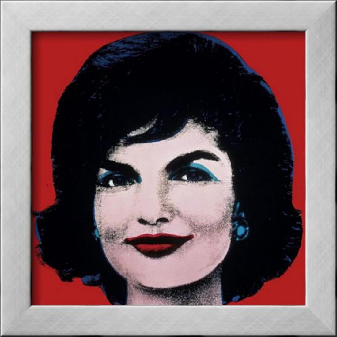 "Andy Warhol ""Jackie, c.1964 (On Red)"" Custom Framed"