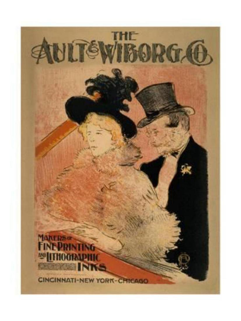 """Henri de Toulouse-Lautrec """"At the Concert, 1896"""" Offset"""