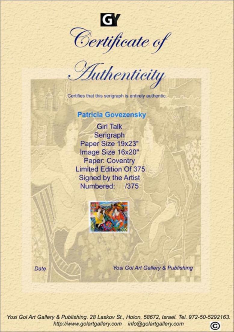 """Patricia Govezensky """"Girl Talk"""" Large Silk Screen - 2"""