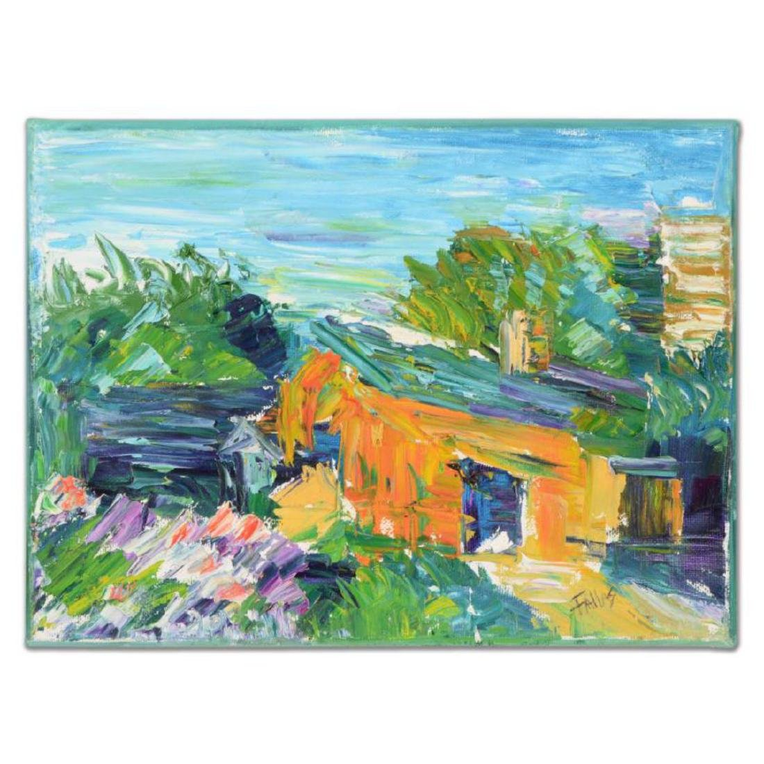 """Elliot Fallas - """"French Cottage"""" Original Oil Painting"""
