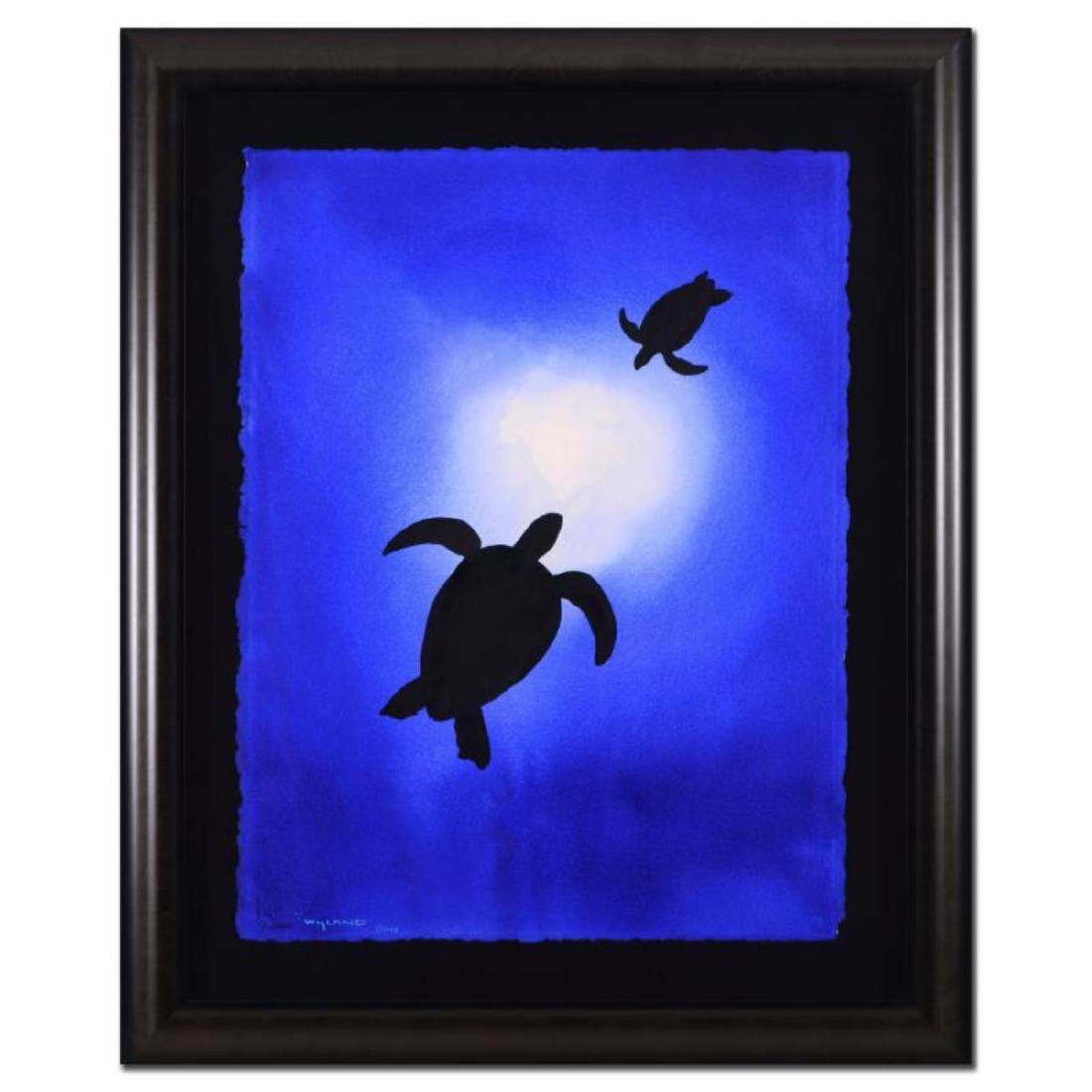 "Wyland - ""Two Turtles"" Framed Original Watercolor"