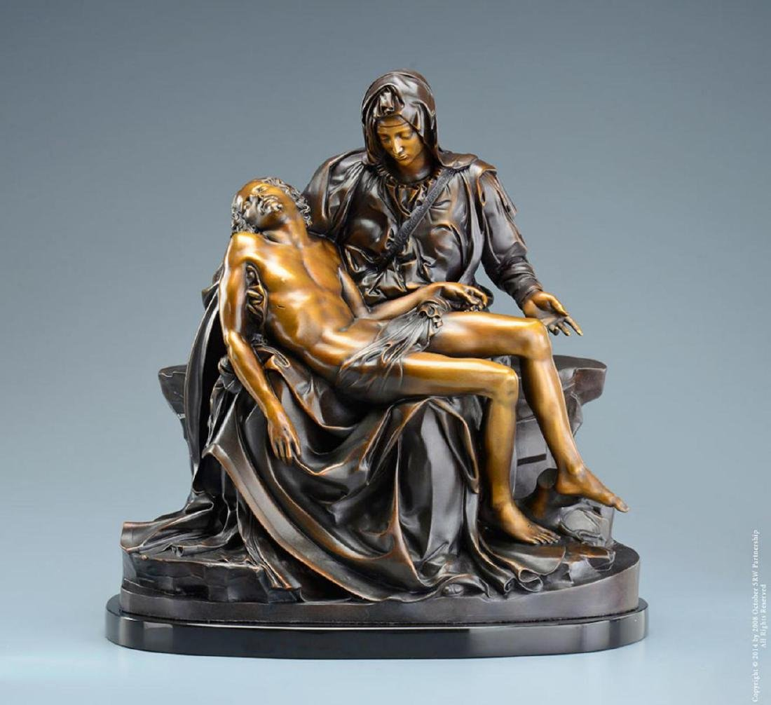 "Michelangelo ""Pieta†Lost Wax Bronze Sculpture"