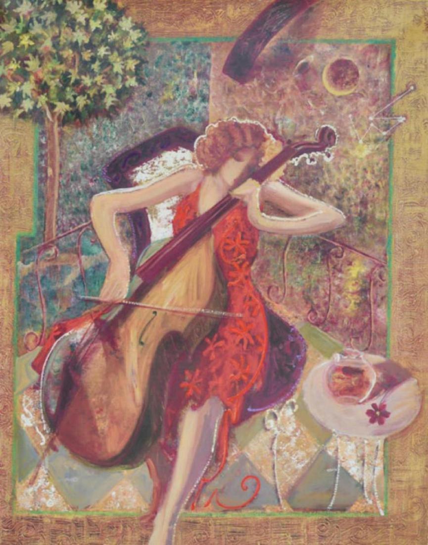 Sabzi- Sonata H. Embelished & S. Giclee on Canvas