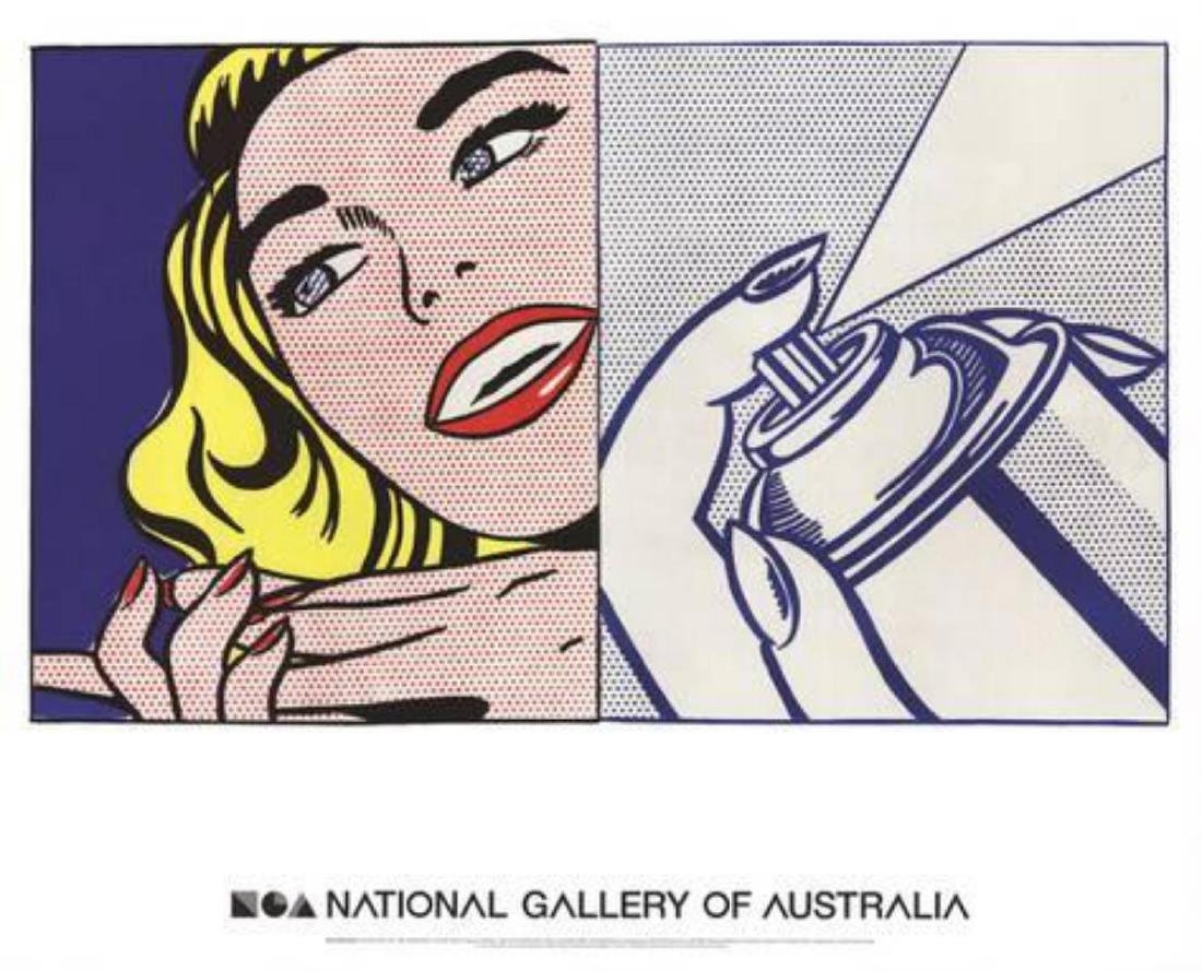 "Roy Lichtenstein ""Girl and Spray Can"" Lithograph"