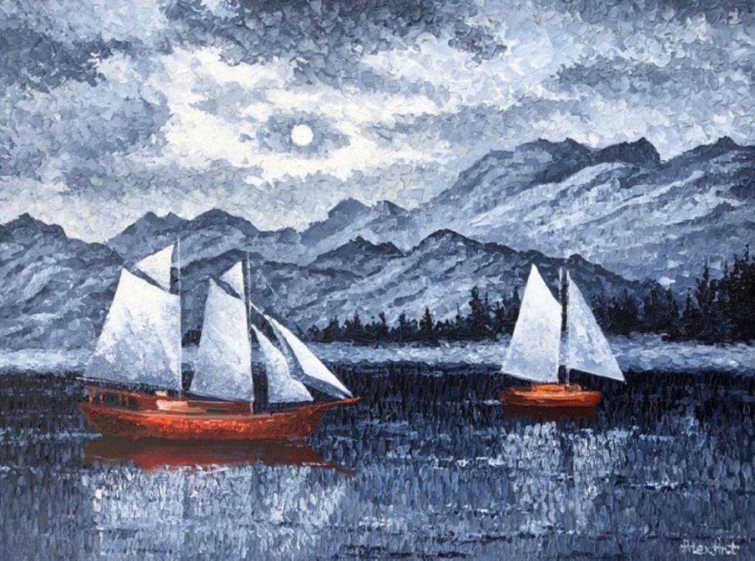"Alexander Antanenka- ""Journey"" Original Acrylic on"