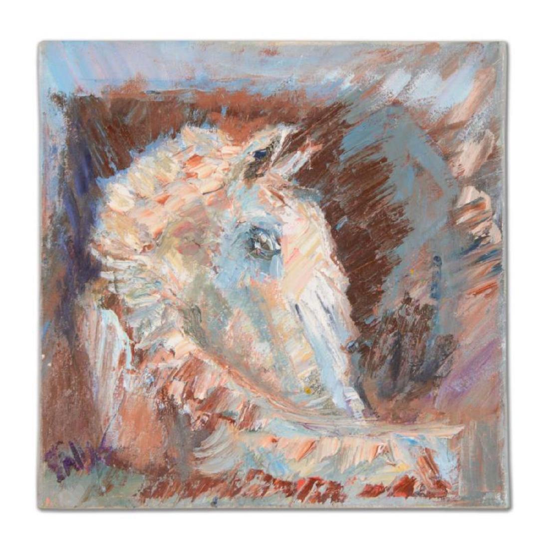"Elliot Fallas - ""Palomino Horse"" Original Oil Painting"